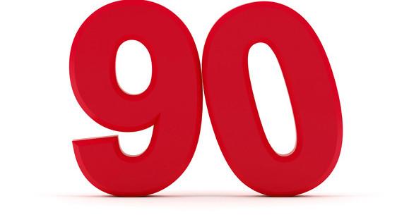 Number 90 - Tilted zero