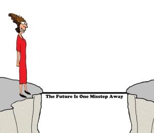 cartoon on bridge